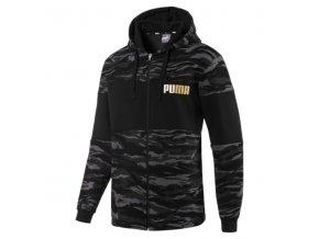 Puma Camo FZ Hoody FL Black-Gold