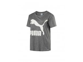 Puma Archive Logo Tee Medium Gray Heather