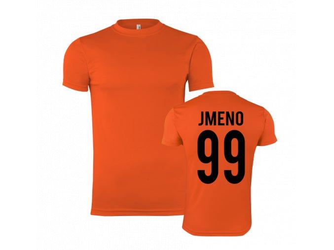 sportovní trička oranžova s vlasní jmeno