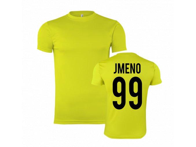 sportovní trička zluta s vlasní jmeno