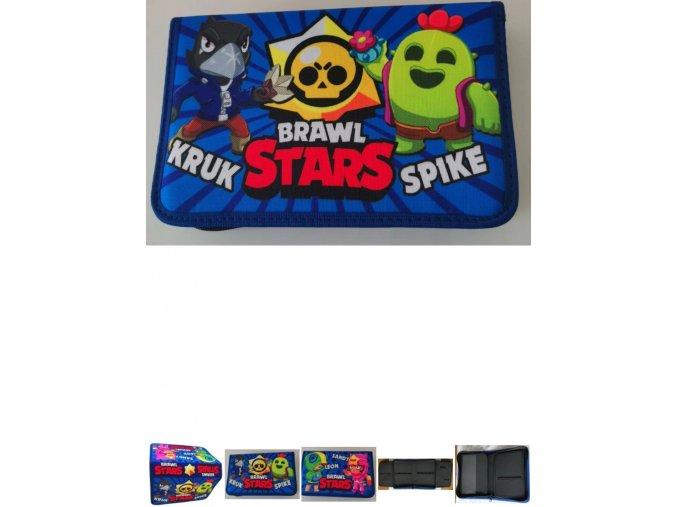 Penál školní - Brawl Stars modrý