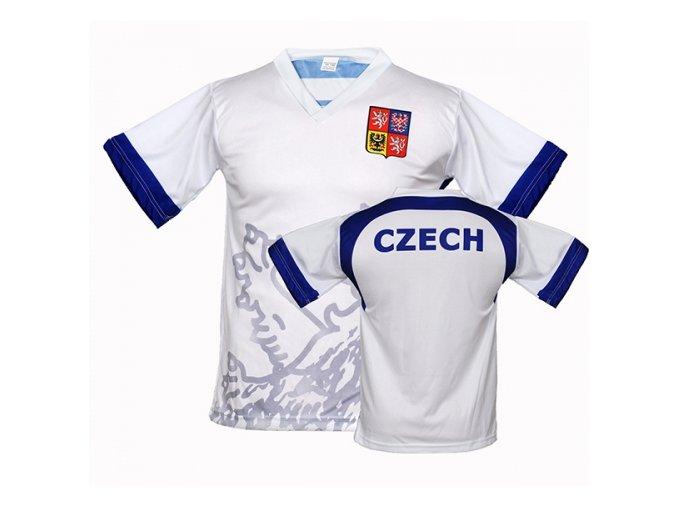 Fotbalový dres ČR / LEV - bílý