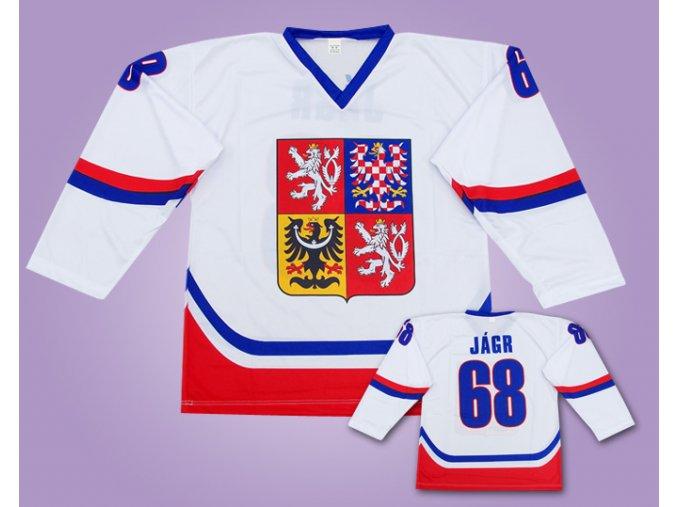 Hokejové dresy bílý ČR Jágr