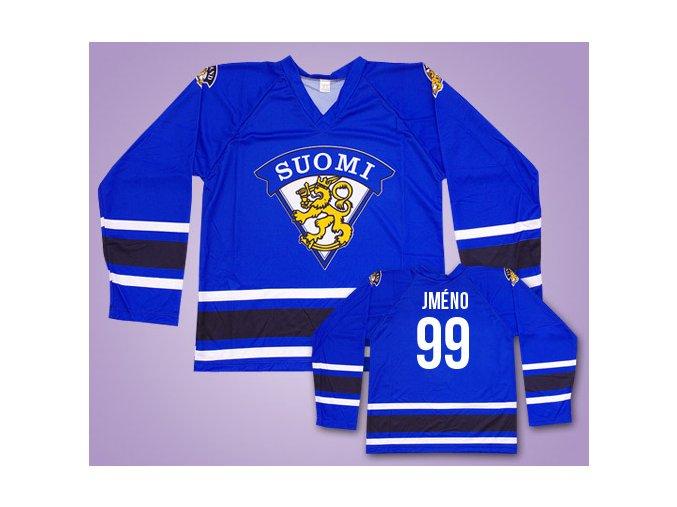 Hokejový dres Finsko modrý vlastní jméno