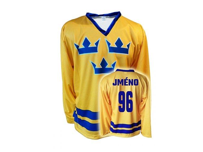 Hokejový dres Švédsko s vlastním jménem