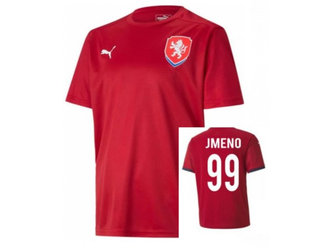 Fotbalový dres ČR 2016 Puma červený se jménem