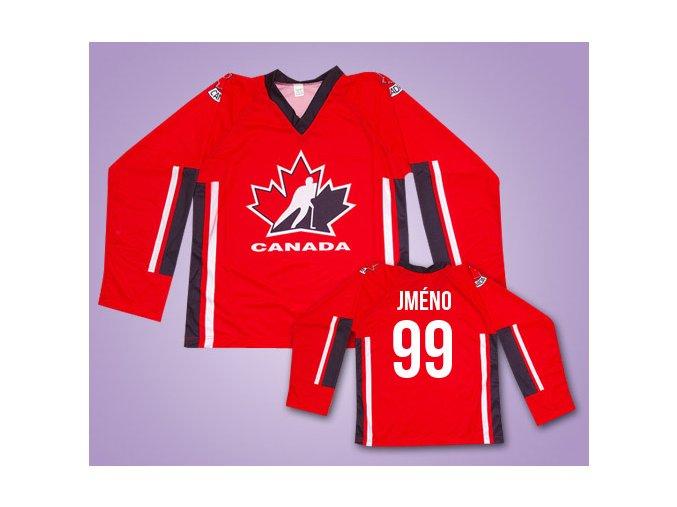 Hokejový dres Kanada s vlastním jménem