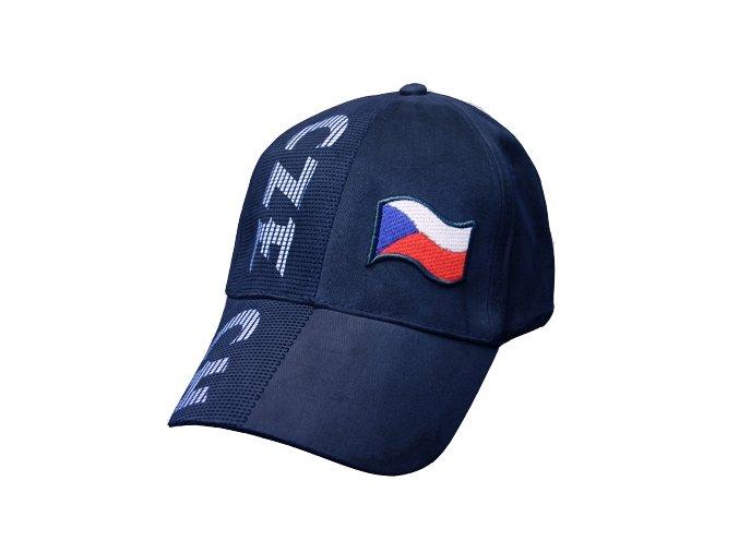 Kšiltovka ČESKÁ REPUBLIKA - modrá