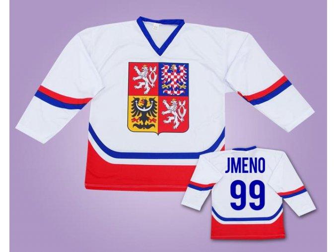 Hokejový dres ČR bílý s vlastním jménem