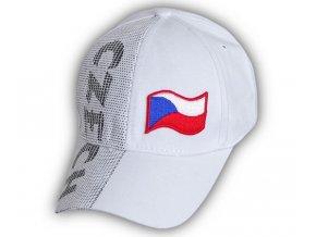 Kšiltovka ČESKÁ REPUBLIKA - bílá