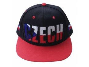 Kšiltovka HIP HOP CZECH, černo / červená