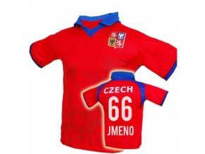 Fotbalový dres ČR / LEV - VLASTNÍ JMENO - červený