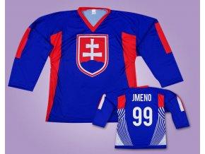 Hokejový dres Slovensko modrý se jménem