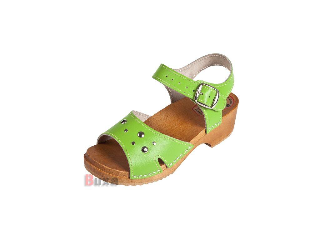 Detské Dreváky Sandálky DZSN Zelené
