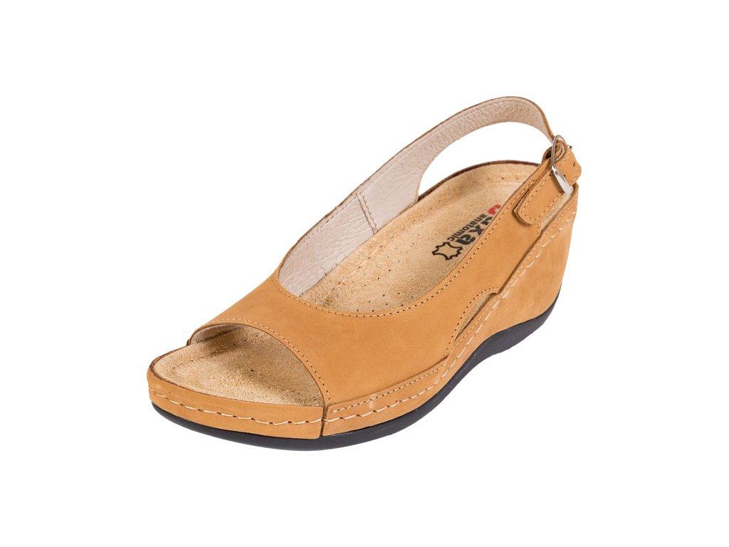 Zdravotná obuv BZ330 - Medový Nubuk