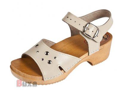 Detské Dreváky Sandálky DZSN Béžové