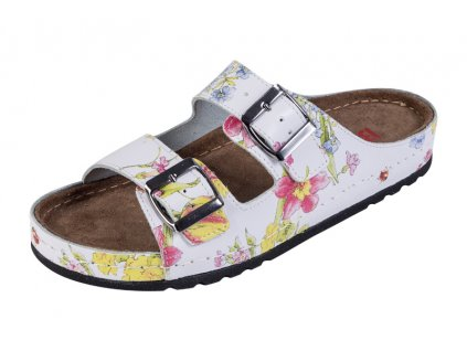 Dámska zdravotná obuv MEMORY - Šľapky - BZ110 - Kvetová