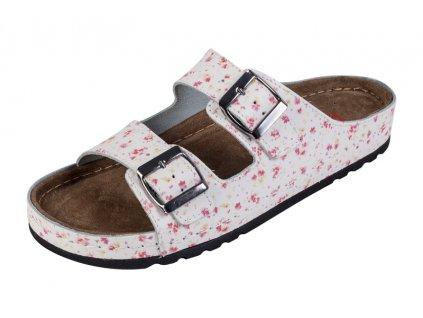 Dámska zdravotná obuv MEMORY - Šľapky - BZ110 - Kvietkovaná