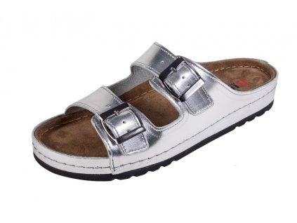 Dámska zdravotná obuv MEMORY - Šľapky - BZ110 - Strieborná