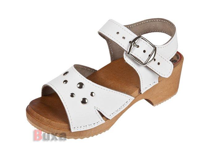 Detské Dreváky Sandálky DZSN Biele