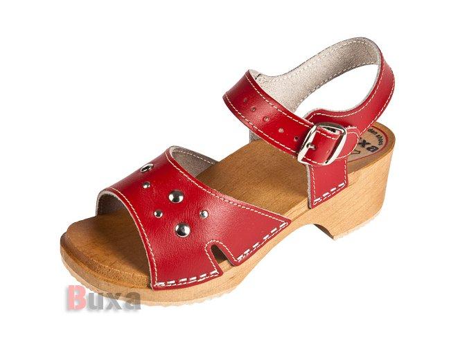 Detské Dreváky Sandálky DZSN Červené