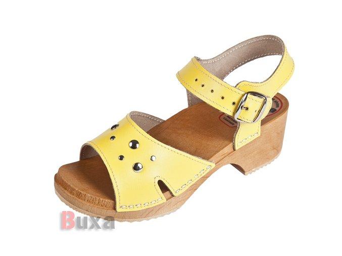 Detské Dreváky Sandálky DZSN Žlté