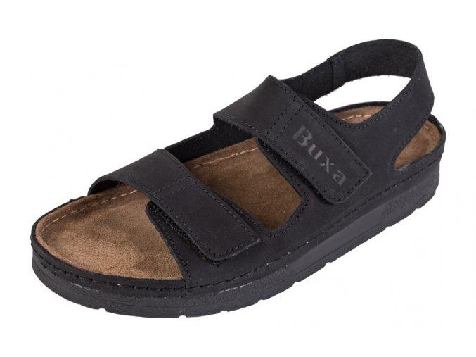 Pánska Zdravotná obuv BZ415 - Čierny Nubuk