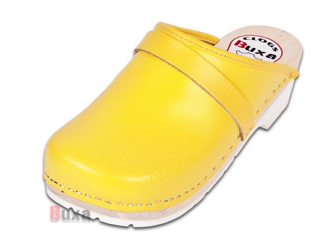 Dreváky Na Gumenej Podrážke Komfort FPU1 Žlté