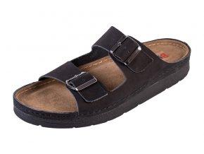 Pánska Zdravotná obuv BZ410 - Čierny Nubuk