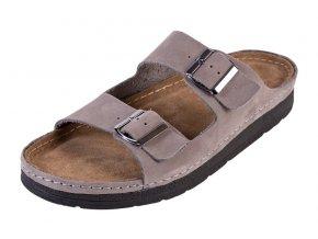 Pánska Zdravotná obuv BZ410 - Sivý Nubuk