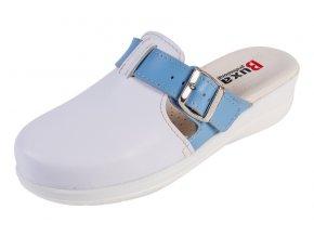 Medicínka obuv MED20 - Biela S Modrým Pásikom