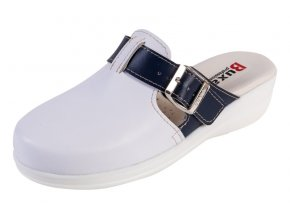 Medicínka obuv MED20 - Biela S Tmavomodrým Pásikom