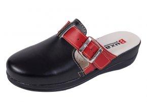 Medicínka obuv MED20 - Čierna S Červeným Pásikom