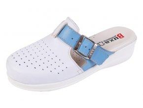 Medicínka obuv MED21 - Biela S Modrým Pásikom