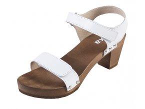 Sandále Na Vysokom Opätku OD15 Biele