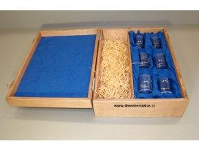 Dárková krabička se sklenkami na pálenku