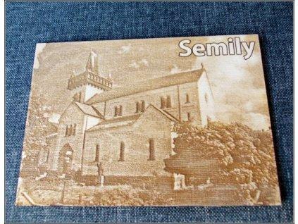 2558 pohlednice semily kostel sv petra a pavla