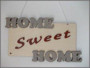 2429 cedulka home sweet home modro zluta