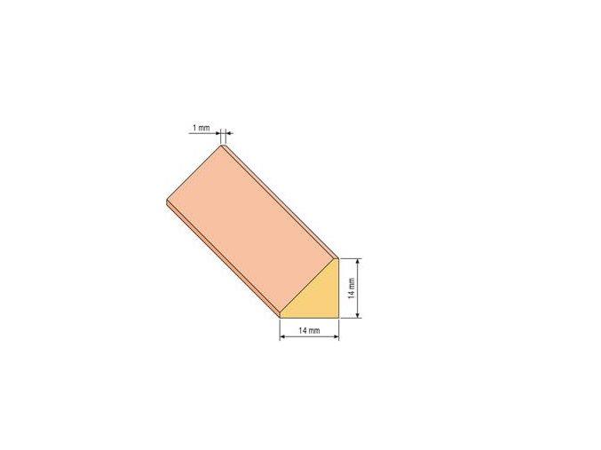 lista trojuhelnik 14x14