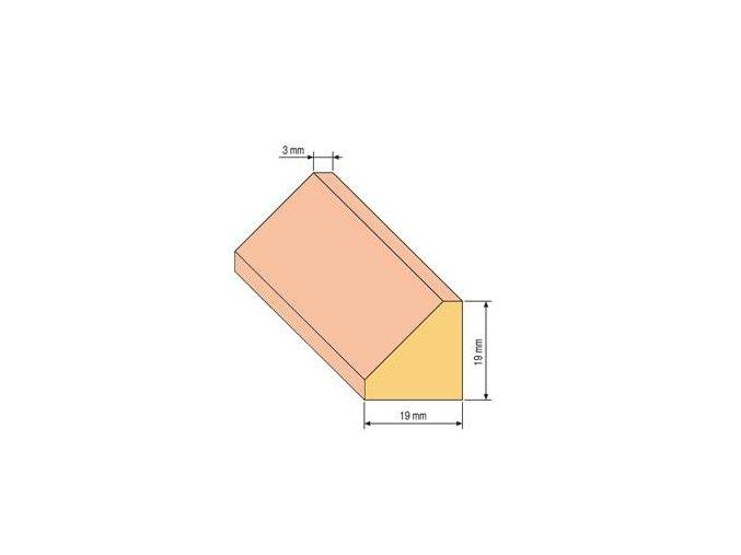 lista trojuhelnik 19x19
