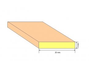 Omítník smrkový 22 x 3 mm