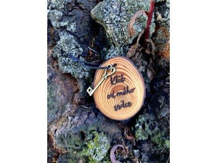 Borovicové kolečko s klíčem od mého srdce