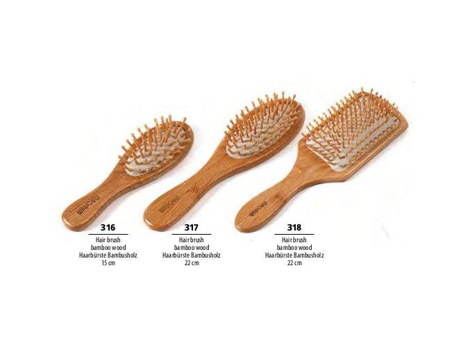 MAGNUM Kartáč na vlasy z bambusového dřeva