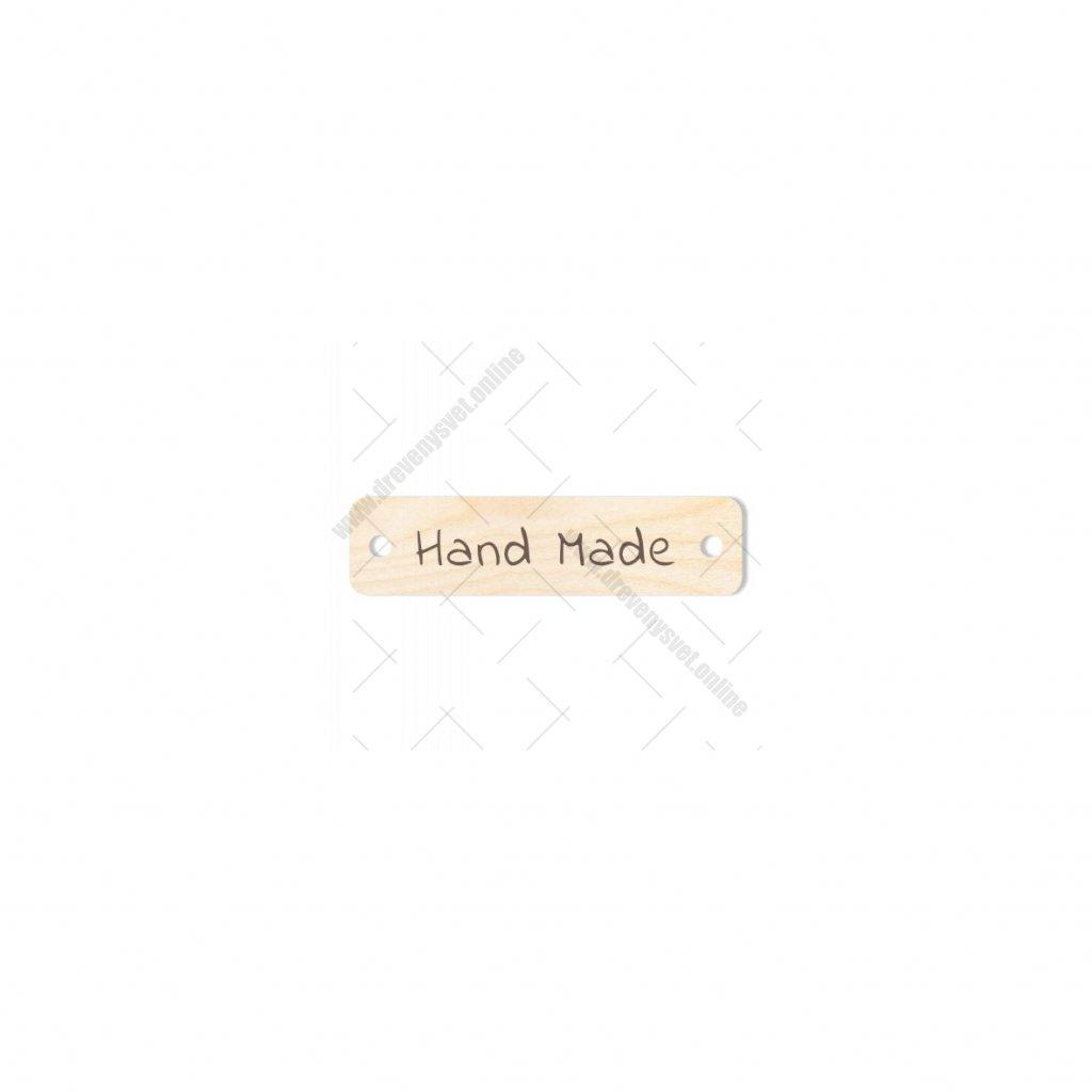 Hand made typ 2 cedulka