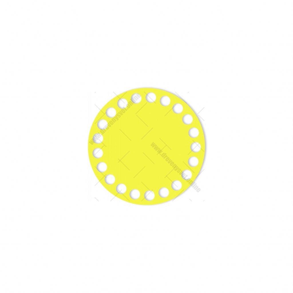 dno kruh 10 cm žlutá