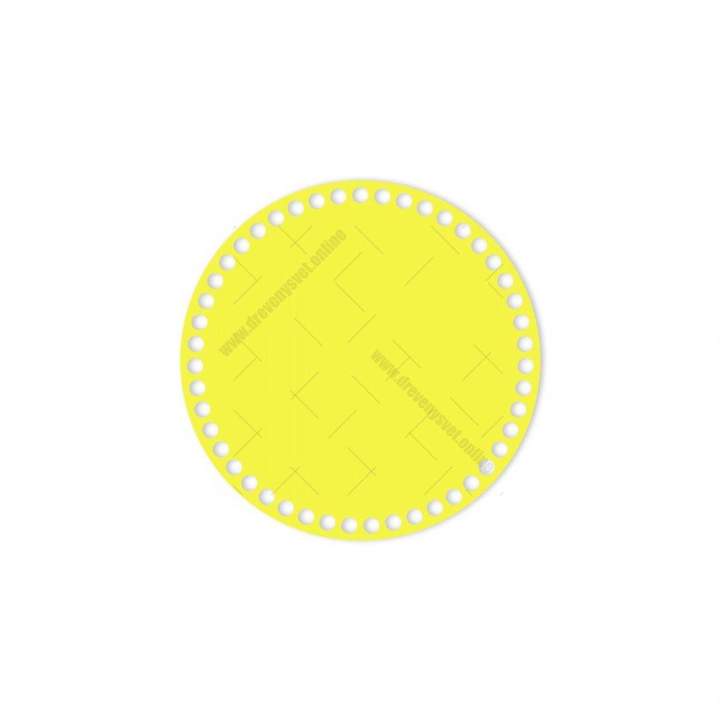 dno kruh 20 cm žlutá