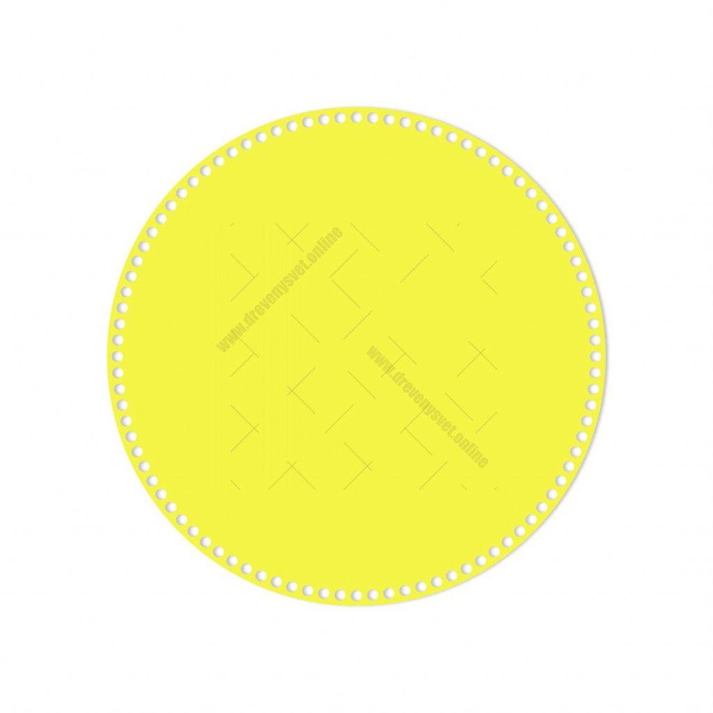 dno kruh 40 cm žlutá