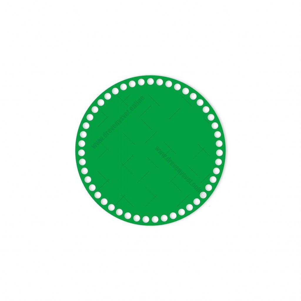 dno kruh 20 cm zelená