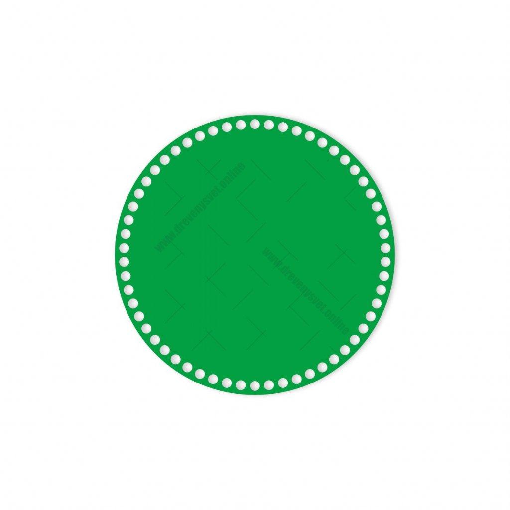 dno kruh 25 cm zelená