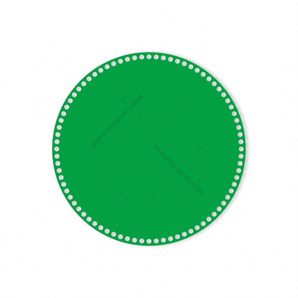 dno kruh 35 cm zelená